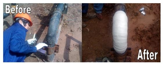 Hardex Quick Pipe Repair Wrap ชุดซ่อมท่อฉุกเฉิน ท่อรั่วแตกร้าว ใช้ได้กับท่อ ทุกชนิด เช่น โลหะ คอนกรี