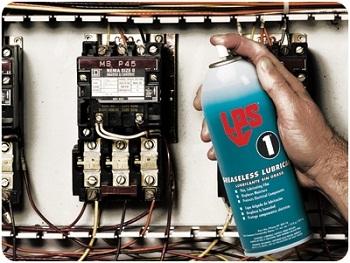 LPS1 สเปรย์หล่อลื่นและไล่ความชื้น กันสนิม ชนิดฟิล์มแห้งบาง ให้ได้กับงานไฟฟ้า อีเล็กทรอนิคส์ เครื่องจ