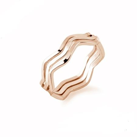แหวนทองอิตาลี 18KRGP เซ็ต 3 วง ไซส์ 6 US สามารถแยกสวมได้ สวยน่ารักมากค่ะ
