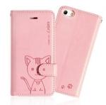 เคสไอโฟน5/5s Domi Cat Diary ชมพูอ่อน