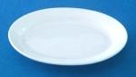จานเซรามิก,จานวงรี,จานเปล,ใส่อาหาร,Oval Plate,รุ่นP4001,ขนาด 23.5cm,เซรามิค,พอร์