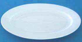 จานเซรามิก,จานวงรี,จานเปล,ใส่อาหาร,Oval Plate,รุ่นP4002,ขนาด 23.5x31.5cm,เซรามิค,พอร์ซเลน,Ceramics,P