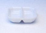 ถ้วยน้ำจิ้ม 2 ช่อง,ถ้วยใส่ซอส,ซอสดิส,Spice Dish Division,รุ่นP4008,ขนาด 9 cm,เซร