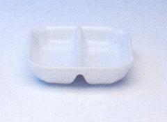 ถ้วยน้ำจิ้ม 2 ช่อง,ถ้วยใส่ซอส,ซอสดิส,Spice Dish Division,รุ่นP4008,ขนาด 9 cm,เซรามิค,พอร์ซเลน,Cerami