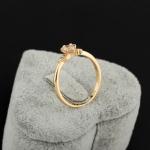 แหวนทอง 18k gold filled ประดับเพชร CZ เม็ดเดี่ยว น่ารักมากค่ะ