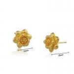 ต่างหูทอง 18k gold filled ดีไซน์ดอกไม้สไตล์วินเทจ สวยน่ารักมากค่ะ