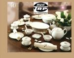 จานเซรามิค,จานกลมก้นลึก,จานคูฟเพลท,จานหวานจานขนมปัง,Round Dessert Coupe Plate,รุ่นP4056,ขนาด 21 cm,เ