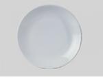 จานเซรามิค,จานดินเนอร์จานกลมก้นลึก,จานคูฟเพลท,Round Dinner Coupe Plate,รุ่นP4057