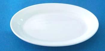 จานเซรามิค,จานวงรี,จานเปล,จานโอเวิลริมคูฟเพลทจานใส่อาหาร,Oval Rim Coup Plate,รุ่นP4060,ขนาด 18 cm,เซ