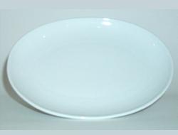 จานเซรามิค,จานวงรี,จานเปล,จานโอเวิลคูฟเพลทจานใส่อาหาร,Oval Coup Plate,รุ่นP4061,ขนาด 20 cm,เซรามิค,พ