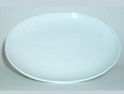 จานเซรามิค,จานวงรี,จานเปล,จานโอเวิลคูฟเพลทจานใส่อาหาร,Oval Coup Plate,รุ่นP4063,ขนาด 25 cm,เซรามิค,พ