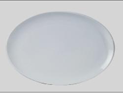 จานเซรามิค,จานวงรี,จานเปล,จานโอเวิลคูฟเพลทจานใส่อาหาร,Oval Coup Plate,รุ่นP4065,ขนาด 35.5 cm,เซรามิค