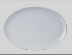 จานเซรามิค,จานวงรี,จานเปล,จานโอเวิลคูฟเพลทจานใส่อาหาร,Oval Coup Plate,รุ่นP4066,ขนาด 38 cm,เซรามิค,พ