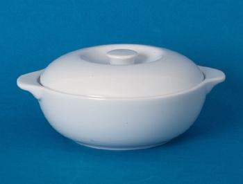 โถใส่ซุปเซรามิคมีฝาปิดถ้วยซุป,ซุปโบล,Soup Bowl,รุ่นP4076/L,ขนาด 12 cm,เซรามิค,พอร์ซเลน,Ceramics,Porc