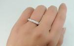 แหวนทองคำขาว 18k ประดับเพชร CZ ดีไซน์หรู น่ารัก ไซส์ 5 US