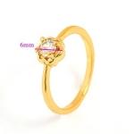 แหวนทอง 9k gold filled ประดับเพชร CZ ดีไซน์น่ารัก