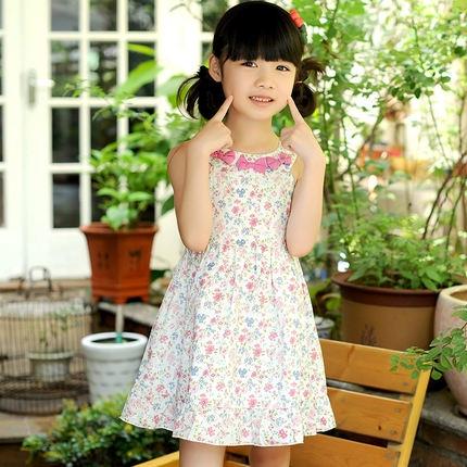 PG5709019ชุดเด็กผู้หญิงกระโปรงดอกไม้หวาน แขนกุด แฟชั่นเกาหลี (พรีออเดอร์)รอ 3 อาทิตย์หลังโอน