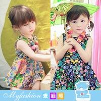 PG5709020 ชุดเด็กผู้หญิงกระโปรงดอกไม้หวาน แขนกุด แฟชั่นเกาหลี (พรีออเดอร์)รอ 3 อาทิตย์หลังโอน