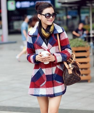 CW5709019 เสื้อโค้ท กันหนาว ผ้าขนสัตว์ คอปก อบอุ่นมาก แฟชั่นเกาหลี  (พรีออเดอร์)