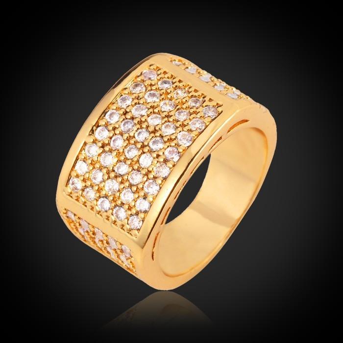 แหวนทอง 18k gold plated ประดับเพชร CZ ของจริงสวยมากๆ ค่ะ (ไซส์ 8 US)