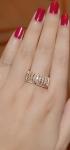 แหวนทองสีชมพู 18k Pink gold ดีไซน์ใหม่ล่าสุด สวยหรูด้วยเพชร CZ เกรดเยี่ยม คุณภาพดี