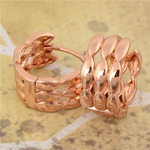 ต่างหูทอง Pink Gold 18k gold filled ดีไซน์สวย เรียบหรู