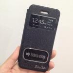 เคสไอโฟน 6 (4.7) เคสฝาพับ smile สีดำ