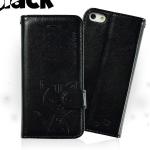 เคสไอโฟน 6 พลัส ฝาพับ Domicat สีดำ