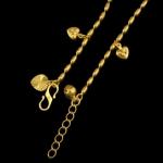 สร้อยข้อมือทองคำ 18k gold filled ห้อยด้วยชาร์มรูปหัวใจ ดีไซน์น่ารัก
