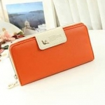 กระเป๋าสตางค์ยาว ใส่มือถือได้ สีส้ม