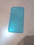 เคสไอโฟน 6 พลัส เคสยางใส สีฟ้า