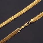 สร้อยคอทองคำ 18k gold plated ดีไซน์หรูสำหรับผู้ชาย ขนาด 550x6 มิลลิเมตร