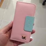 กระเป๋าเคส ไอโฟน 4 4s สีชมพูอ่อน