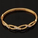 กำไลทองคำ 18k gold filled ประดับเพชร CZ ดีไซน์เก๋ สวยมากค่ะ