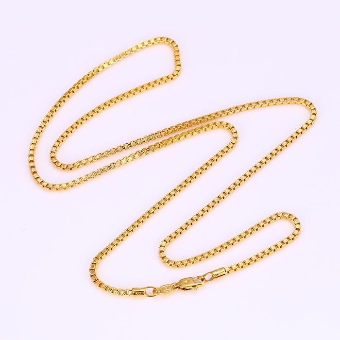 สร้อยคอทองคำ 18k gold filled ลายปล้องเหลี่ยมตัดลายทั้งเส้น ขนาด 610x2 มิลลิเมตร