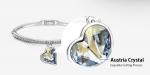 กำไลข้อมือ 18k platinum plated ประดับคริสตัล Swarovski แท้ ดีไซน์น่ารัก สวยมากๆ ค่ะ