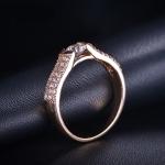 แหวนทอง 18k gold plated ประดับเพชร CZ คุณภาพเยี่ยม ดีไซน์เก๋ สวยหรูมากค่ะ