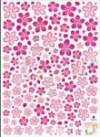 Wallsticker Flower 50x70 cm.