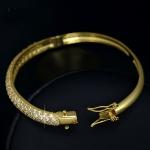 กำไลข้อมือทอง 14k gold plated ประดับเพชร CZ เปล่งประกายสุดหรู