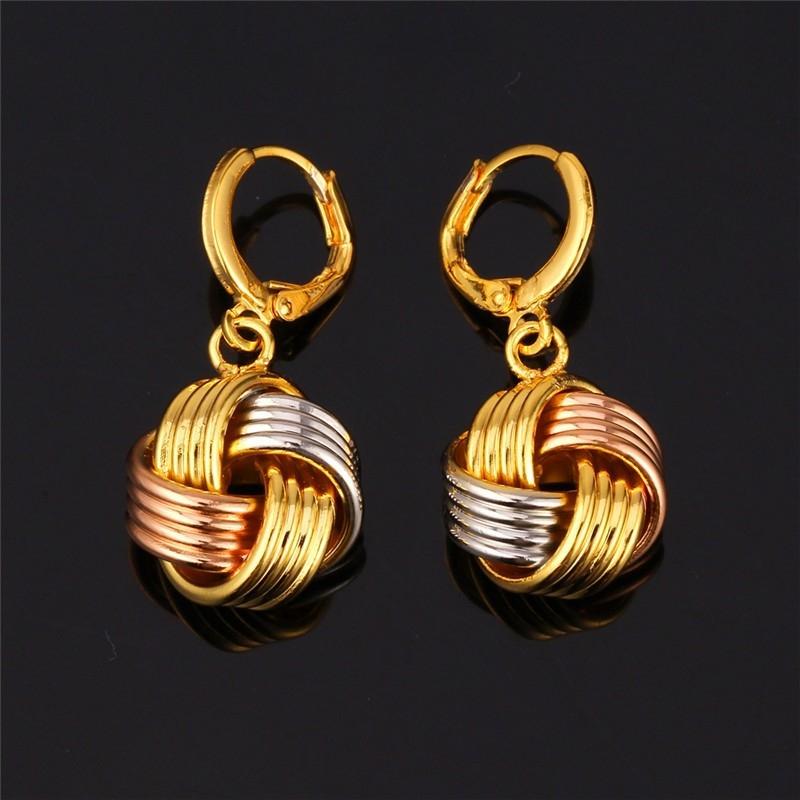 ต่างหูทอง 3 กษัตริย์ 18K gold filled ทองคำ ทองคำขาว ทองคำสีชมพู