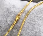 สร้อยคอทองคำ 18k gold filled เกรดพรีเมี่ยม ขนาด 600x2 มิลลิเมตร
