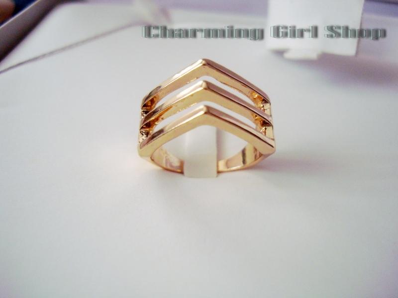 แหวนทองแฟชั่นเกาหลีนำเข้า ดีไซน์สุดเก๋ คุณภาพเยี่ยม สวยมากค่ะ มี 3 ไซส์ให้เลือก