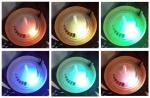 เครื่่องฟอกอากาศระบบน้ำ ลูกโลกลายไม้ ไม่มีฐาน & Rainbow LED
