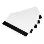 บัตรพลาสติกแถบแม่เหล็กเปล่าสีขาว พิมพ์เพิ่มเติมได้