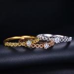 เซ็ตแหวนทอง 3 กษัตริย์ 18k gold plated ประดับเพชร CZ เกรดพรีเมี่ยม ไซส์ 7