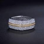 แหวนทอง 18k gold plated ประดับเพชร CZ เกรดพรีเมี่ยมรอบวง สวยหรูมากๆ ค่ะ
