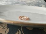แหวนทอง pink gold 18k infinity design gold plated ประดับเพชร cz