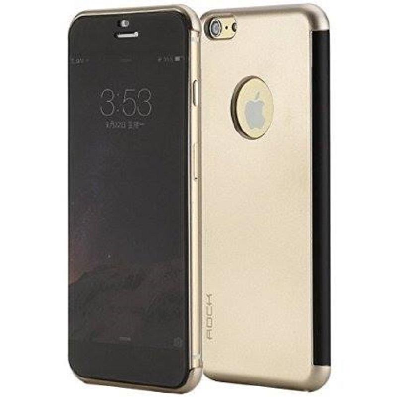 เคสไอโฟน 6 6S เคสใช้งานโดยไม่เปิดฝาพับ ROCK Dr.V CASE IPHONE 6 6S [ทอง]