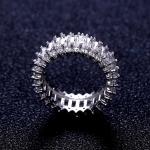 แหวนเงิน 925 หุ้ม 18k Platinum Gold ประดับเพชร CZ เกรดพรีเมี่ยม