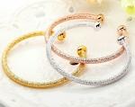 ราคาต่อชิ้น กำไลข้อมือทอง 18k gold / white gold/ rose gold plated แบบขัดทราย